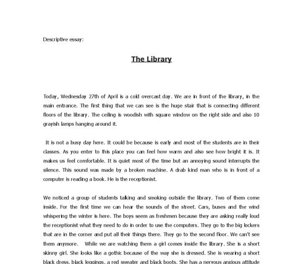 Descriptive essays about a place
