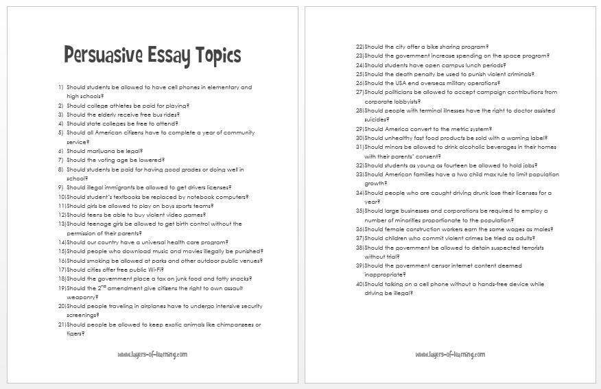 7 Tickets to a Winning Persuasive Essay